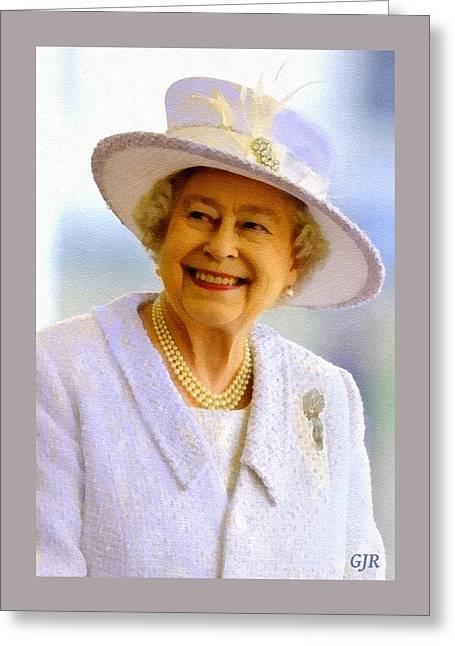 Her Royal Highness Queen Elizabeth The Second. No.2 P A Greeting Card by Gert J Rheeders