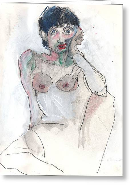 Her - Self Portrait Greeting Card