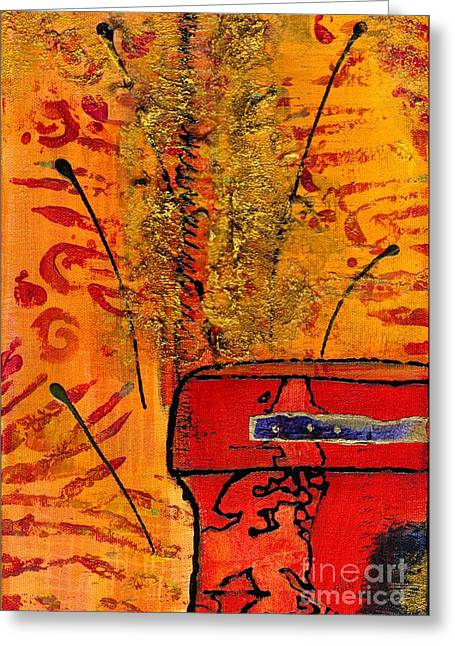 Her Vase Greeting Card by Angela L Walker