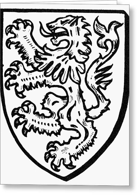 Heraldry: Lions Greeting Card