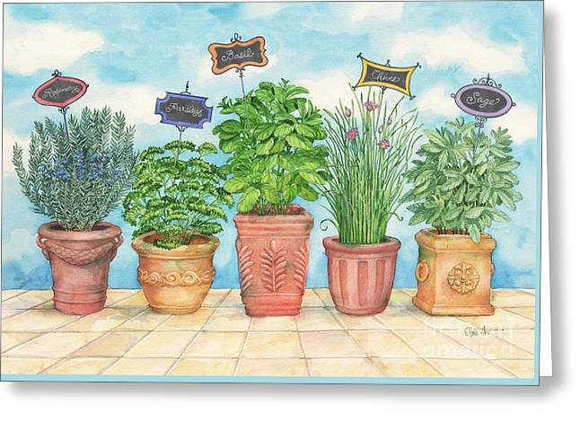 Herb Garden Greeting Card by Paul Brent