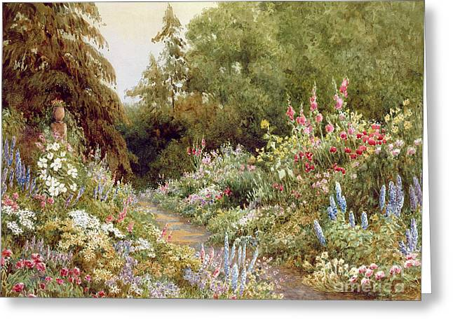 Herbaceous Border  Greeting Card by Evelyn L Engleheart