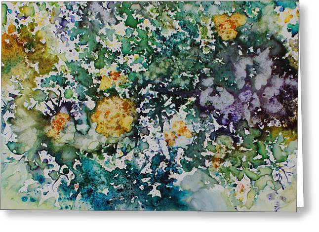 Greeting Card featuring the painting Herbal Bouquet by Joanne Smoley