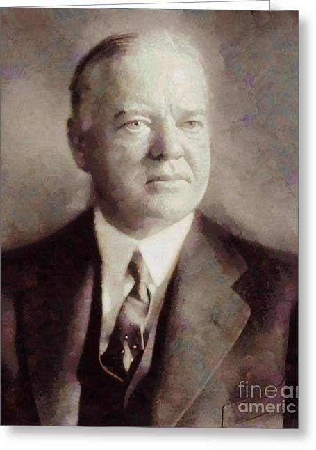 Herbert Hoover, President Of The United States By Sarah Kirk Greeting Card
