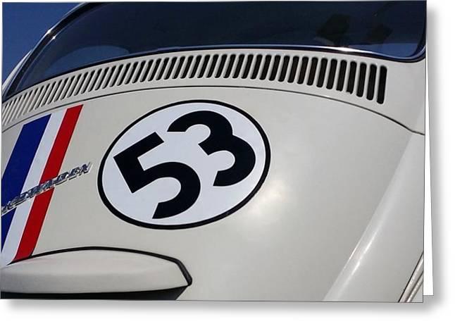 Herbie The Love Bug Greeting Card