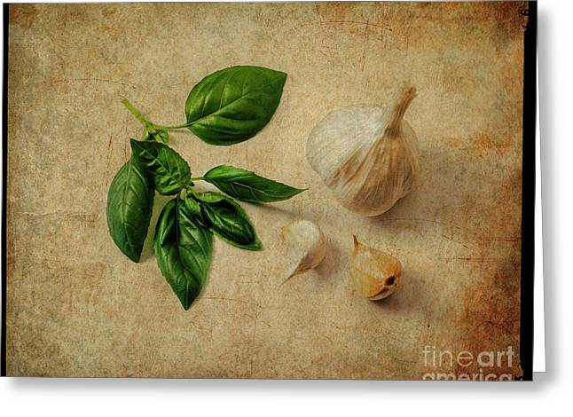 Greeting Card featuring the photograph Herbs #055 by Hans Janssen