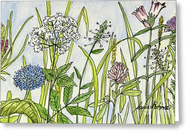 Herbs And Flowers Greeting Card