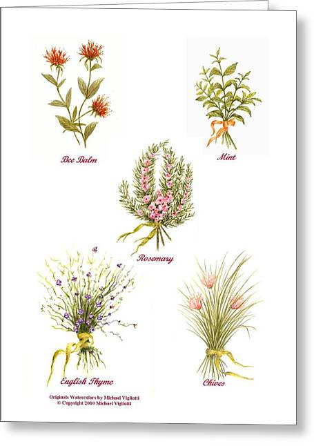 Herbs Montage Number One Greeting Card