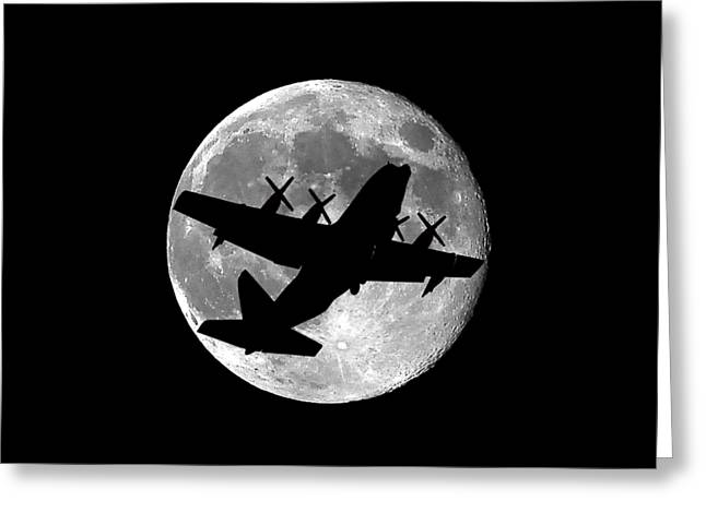 Hercules Moon .png Greeting Card by Al Powell Photography USA