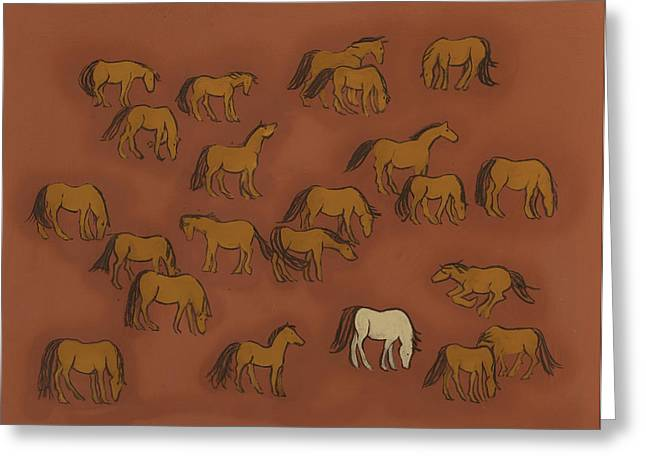 Iron Greeting Cards - Herd 1 Greeting Card by Sophy White