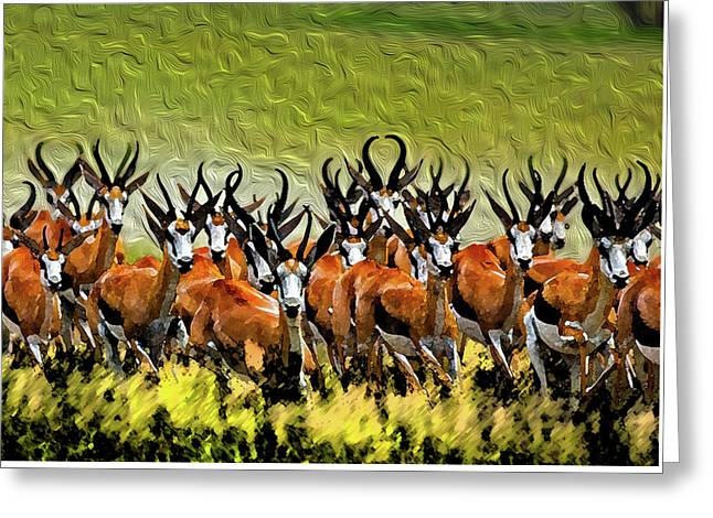 Herd 2 Greeting Card by Bruce Iorio