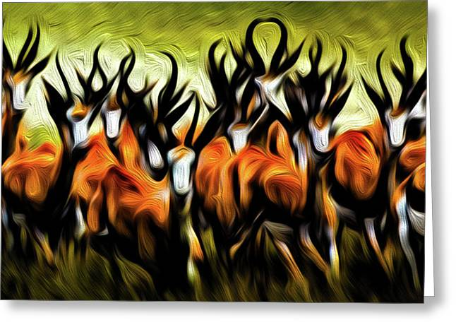 Herd Greeting Card by Bruce Iorio