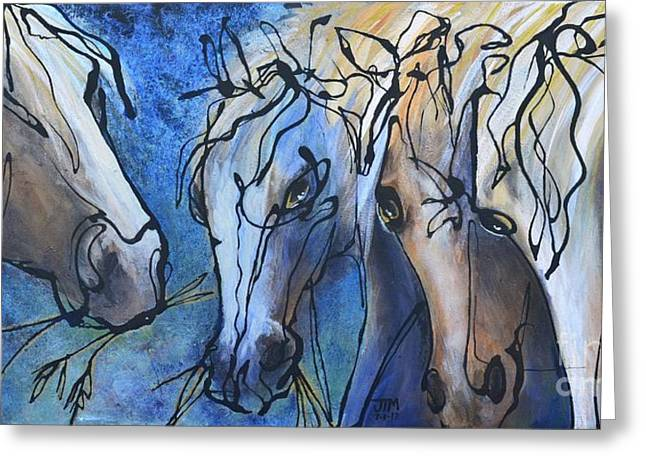 Paso Fino Horse Greeting Cards - Herd Dynamics Greeting Card by Jonelle T McCoy