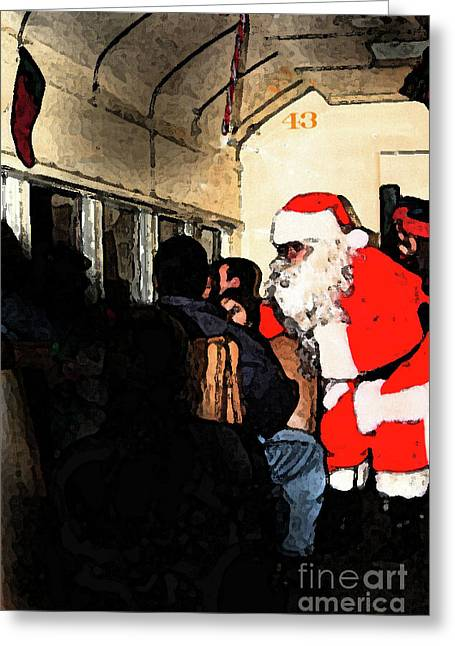 Greeting Card featuring the photograph Here Come Santa by Kim Henderson