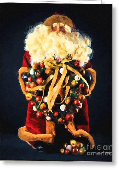 Here Comes Santa Greeting Card
