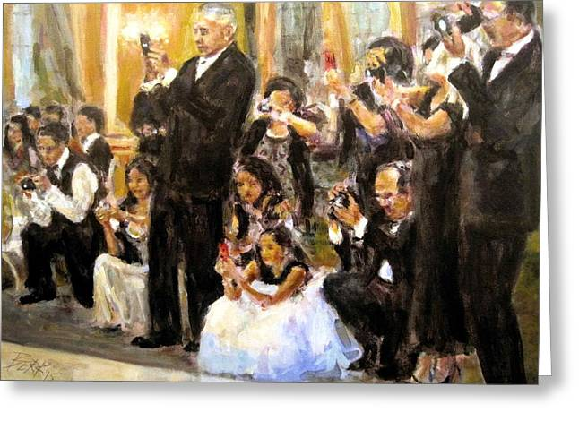 Here Comes The Bride Greeting Card by Chuck Berk