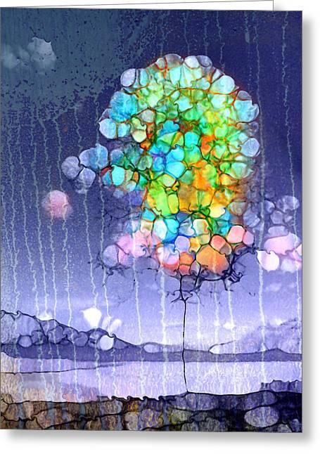 Here Comes The Rain Greeting Card by Tara Turner