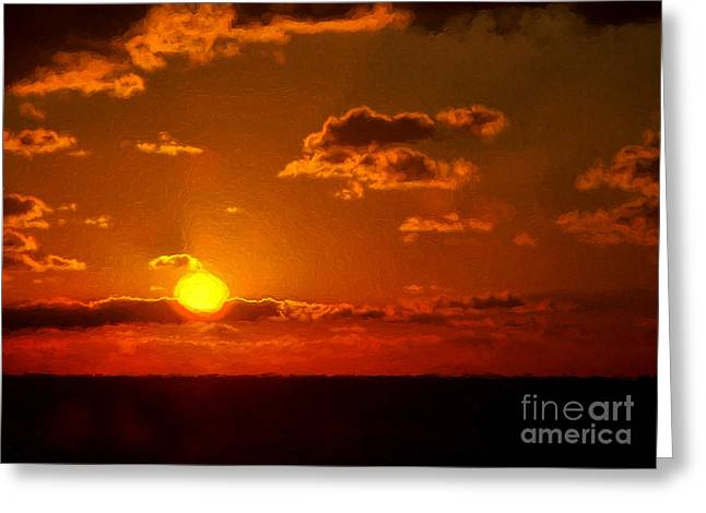 Here Comes The Sun Greeting Card by Dave Bosse