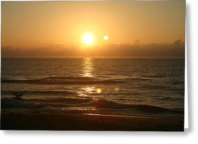 Here Comes The Sun. Greeting Card by Dennis Curry