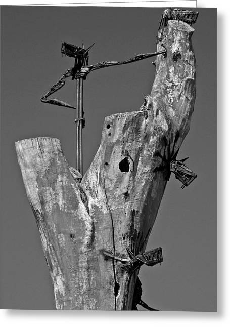 Figure Sculpture Greeting Cards - Here I am ... Greeting Card by Juergen Weiss