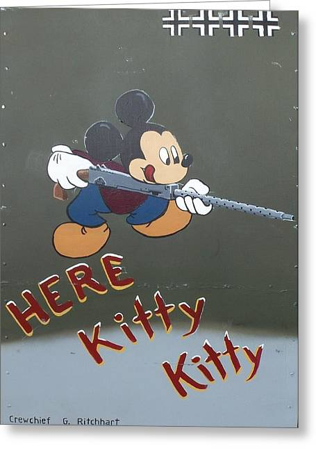 Here Kitty Kitty Greeting Card by Gene Ritchhart