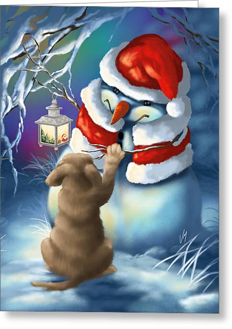 Here The Paw Greeting Card