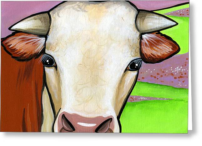 Hereford Greeting Card by Leanne Wilkes
