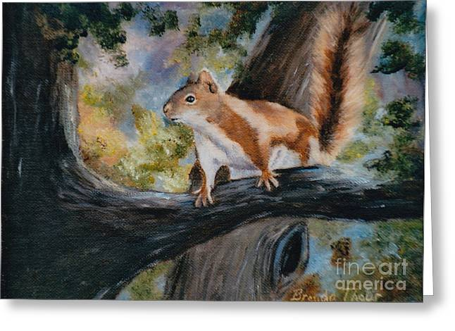Here's Looking At You Greeting Card by Brenda Thour
