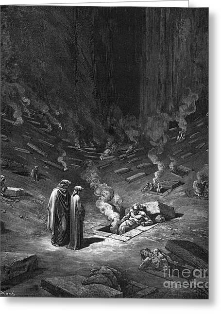 Heresiarchs Greeting Card by Gustave Dore