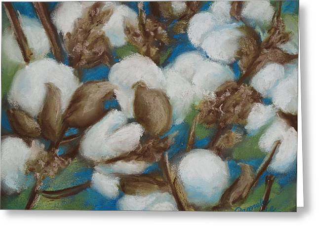 Cotton Balls Greeting Cards - Heritage Corridor Cotton Greeting Card by Pamela Poole