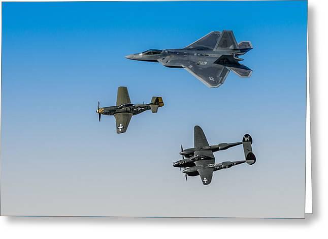 Heritage Flight Greeting Card by Mark Goodman