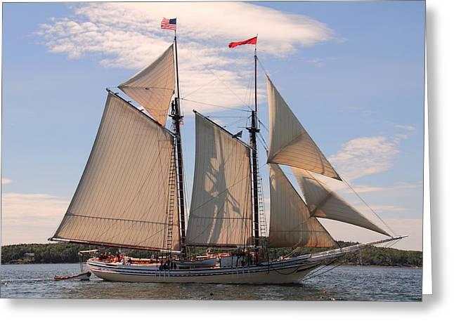 Heritage Full Sail Greeting Card