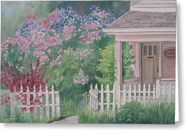 Heritage House Greeting Card by Debbie Homewood
