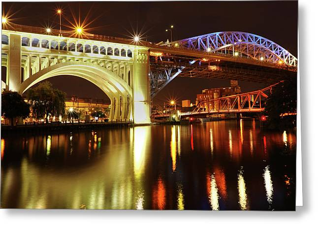 Heritage Park Bridges Greeting Card by David Yunker