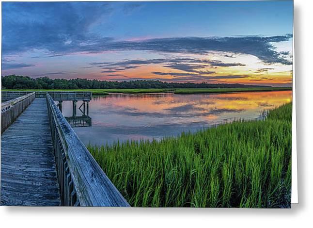 Heritage Shores Nature Preserve Sunrise Greeting Card