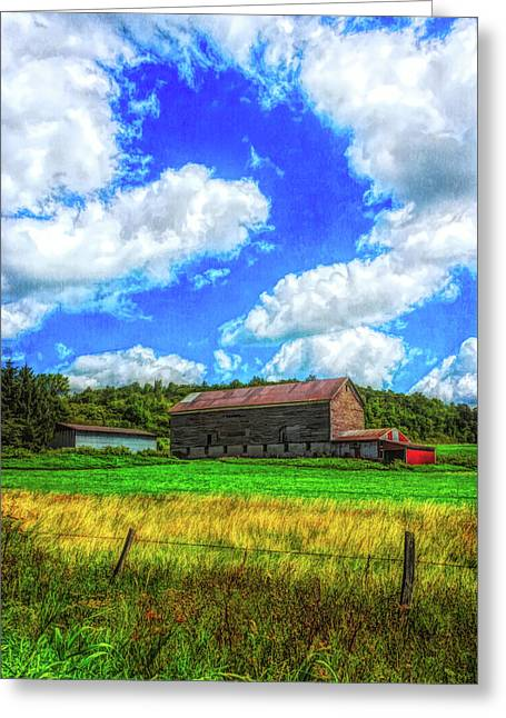 Greeting Card featuring the photograph Herkimer County Barn by Guy Whiteley
