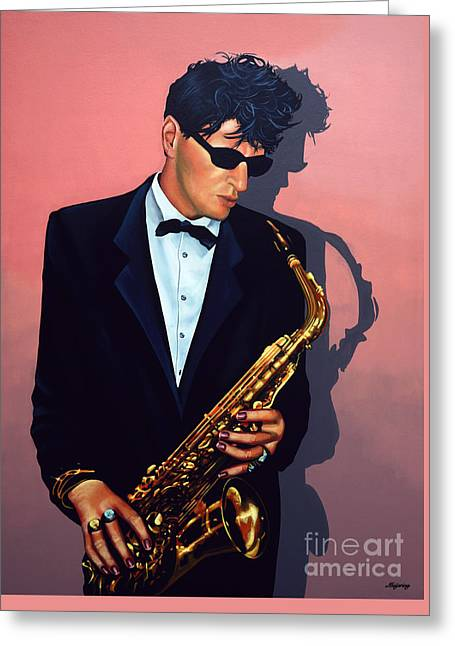 Herman Brood Greeting Card by Paul Meijering