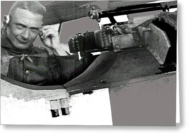 Herman Goering In The Cockpit Of A Fokker D.vii Screen Capture Somewhere In Germany Circa 1918 Greeting Card by David Lee Guss