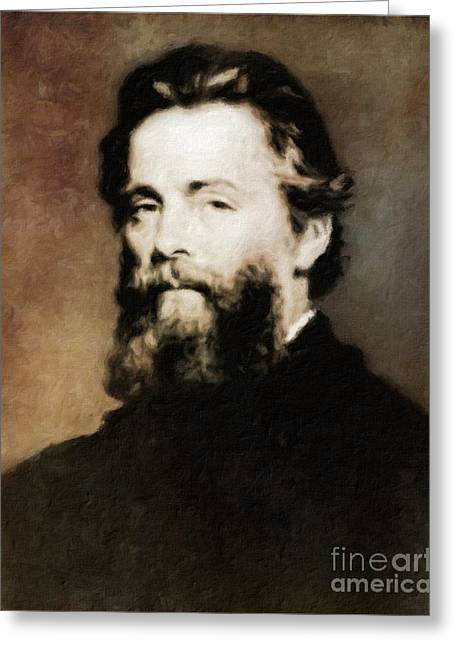 Herman Melville, Literary Legend By Mary Bassett Greeting Card by Mary Bassett