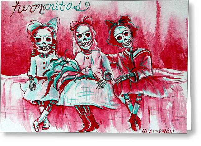 Hermanitas Greeting Card
