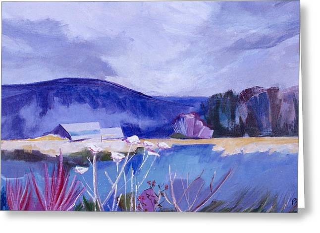 Greeting Card featuring the painting Herman's Place by Betty Pieper