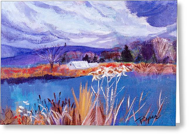 Greeting Card featuring the painting Herman's Pond by Betty Pieper