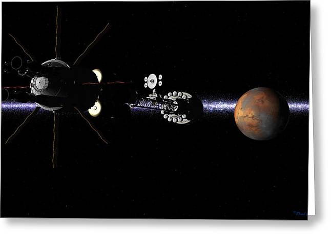 Hermes1 In Sight Of Mars Greeting Card