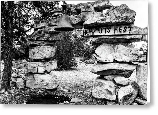 Hermit's Rest, Black And White Greeting Card