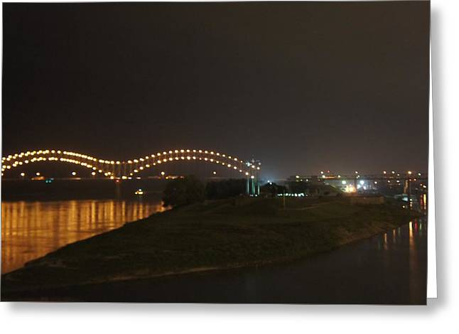 Hernando De Soto Bridge, Memphis, Tn Greeting Card