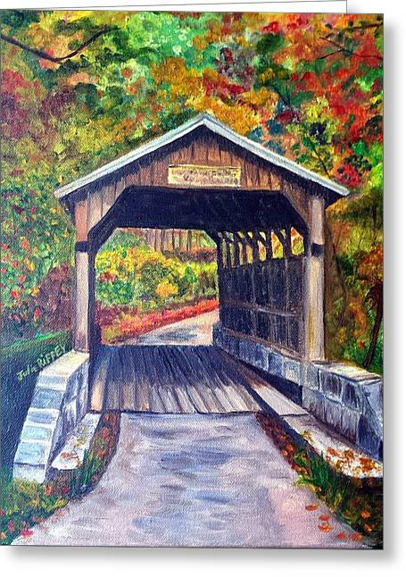 Herns Mill Bridge, Lewisburg Wv Greeting Card by Julie Brugh Riffey