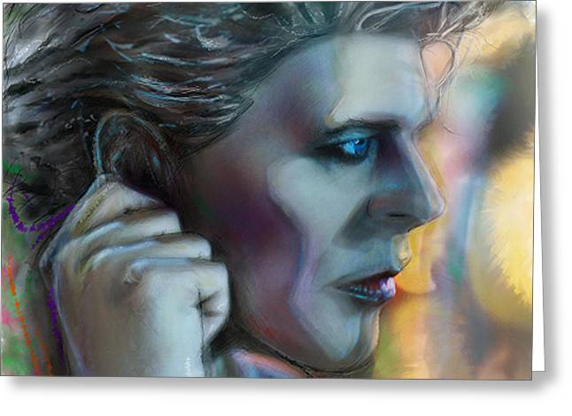 Bowie Heroes, David Bowie Greeting Card by Mark Tonelli
