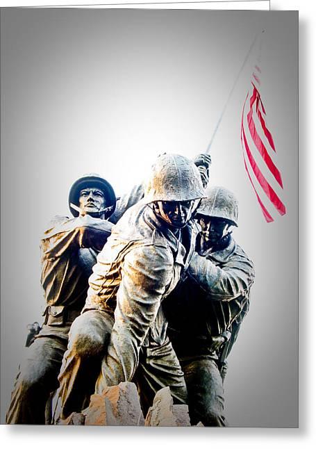 U.s. Flag Greeting Cards - Heroes Greeting Card by Julie Niemela
