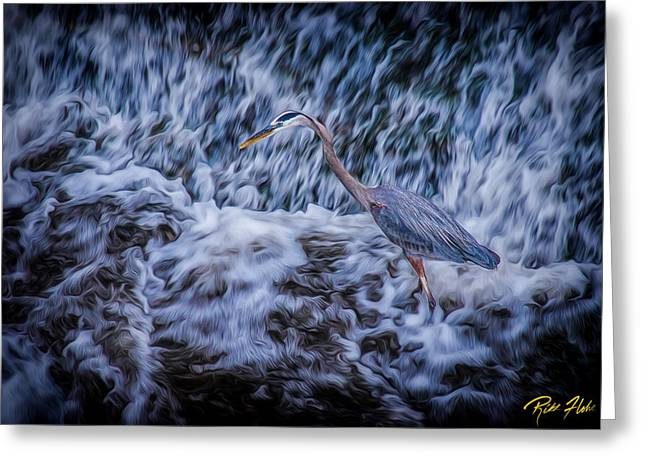 Heron Falls Greeting Card