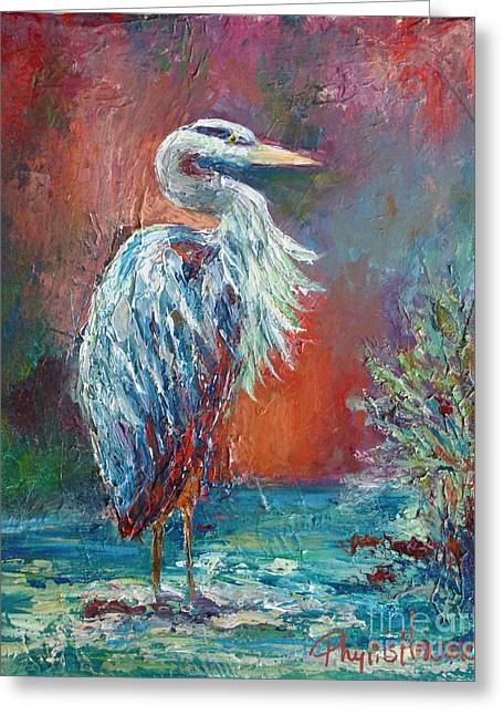 Heron In Color Greeting Card